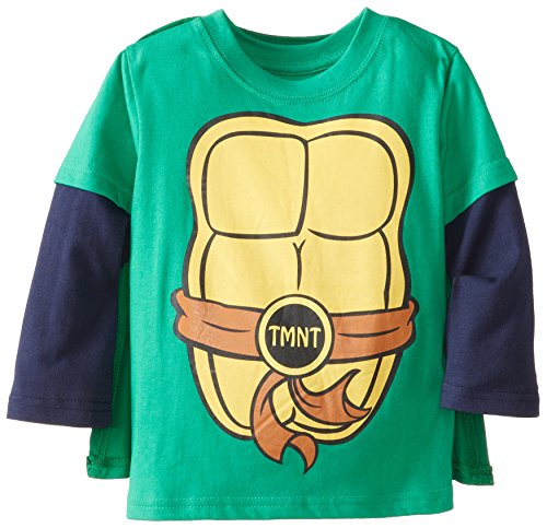 Nickelodeon Little Boys' Ninja Turtle Top W Cape