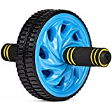 Crown Sporting Goods Ab Wheel with Dual Non-Skid Wheels and No-Slip Comfort Grips