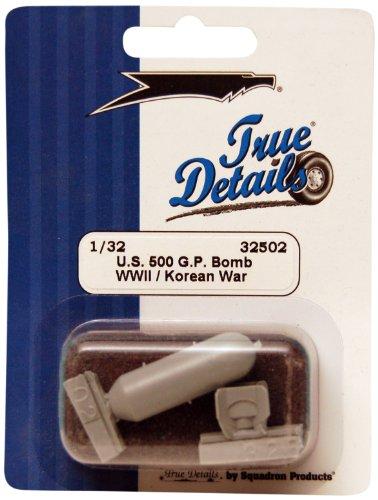 True Details 500-Pound WW II Korea War US GP Bomb