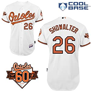 Buck Showalter Baltimore Orioles Home Authentic Cool Base Jersey w  60th Anniversary... by Majestic