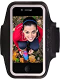 iPhone 6, 6s Sports Armband Fits Galaxy S4 ~ Enjoy Music While Running & Protect Your Device During Exercise ~ Key Holder, Card Pocket & Extra Jack Holes ~ Free 34 Page eBook Fitness Program Included