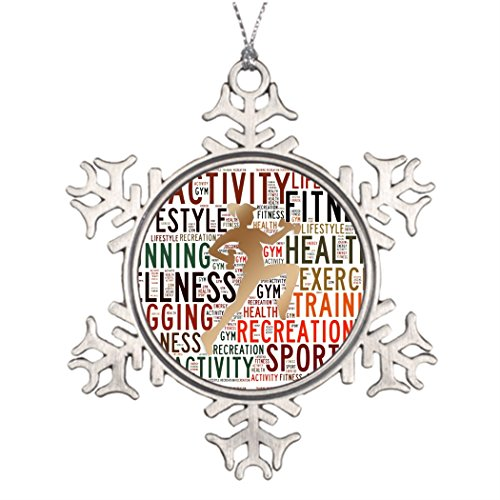 Tree Branch Decoration Fitness words Snowflake Ornaments Personalized Health