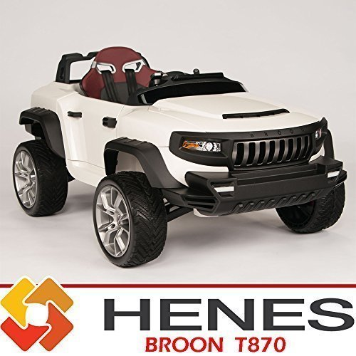 Henes-Broon-T870-Kids-Ride-On-Jeep-24V-Power-with-Rubber-Wheels-Tablet-PC-Remote-White