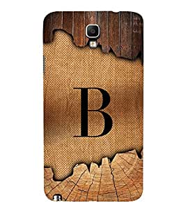 Initial B Wooden Alabhet 3D Hard Polycarbonate Designer Back Case Cover for Samsung Galaxy Note 3 Neo N7505