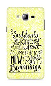 AMEZ start something new and the magic begins Back Cover For Samsung Galaxy ON7