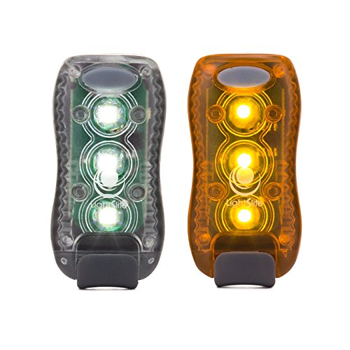 LED-Flashing-Safety-Light-2-PACK-White-and-Amber-Set-High-Visibility-Bright-Flashing-Strobe-For-Walking-Running-Riding-Kids-Hiking-Dogs-Construction-Snow-Night-Roadside-Emergency-Warning-Light