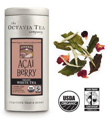 Octavia Tea Acai Berry Organic White Tea [2 Pack]