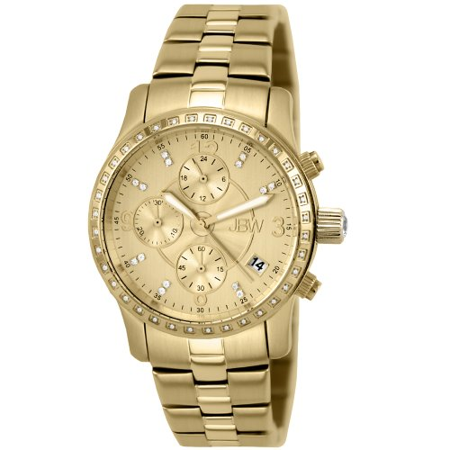 Jbw Women'S J6252C Novella 18K Gold-Plated Stainless Steel Chronograph Watch