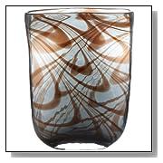 Lazy Susan Blue Carmel Swirl Decorative Designer Vase