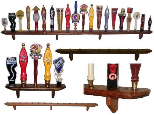 5 Place Wall Hanging Tap Handle Display Shelf Ebony