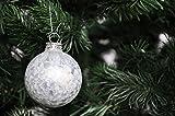JACK-12x-Glas-Eislack-Christbaumkugeln-6cm-Thringer-Weihnachtskugeln-Kugeln-FarbeWei-Eislack