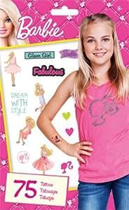Amazon.com: Standard Tatto Bag - Barbie - Temporary Kids Games Toys