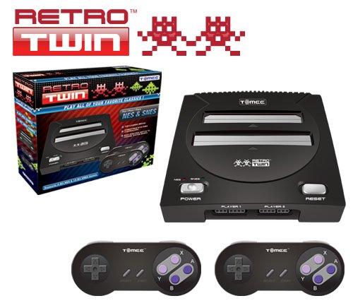 Tomee C2 NES/SNES Retro Twin Gaming System - Black