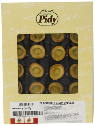 Pidy Bouchee Round Shape Puff Pastry Shell Golden Brown Colour 72 Pieces