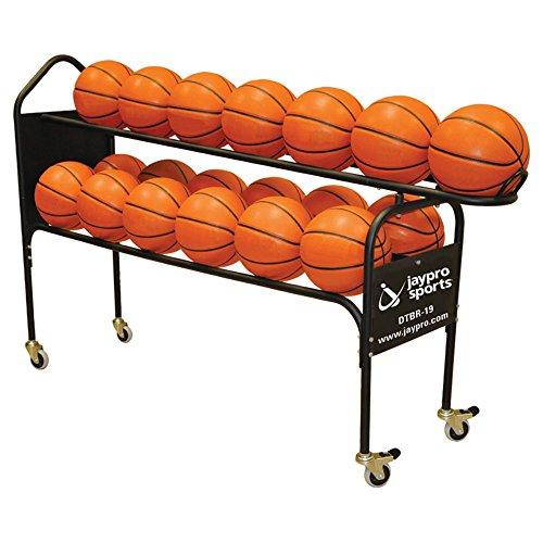 [해외]Jaypro 디럭스 2 계층 농구 랙/Jaypro Deluxe 2 Tier Basketball Rack