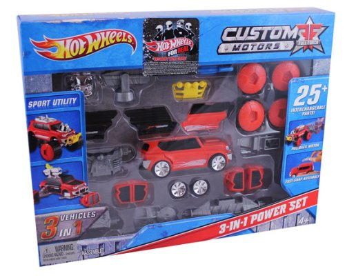Hot Wheels Custom Motors Full Force 3-In-1 Sport Utility Power Set