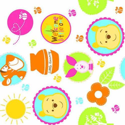 迪士尼/disney 宝宝礼物小熊维尼包装纸 baby pooh gift wrap