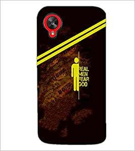 PrintDhaba Quote D-5854 Back Case Cover for LG GOOGLE NEXUS 5 (Multi-Coloured)