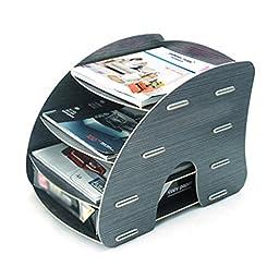 Menu Life A4 Size Magazine File Collector Trays File Desk Storage Cabinet Box (Black)
