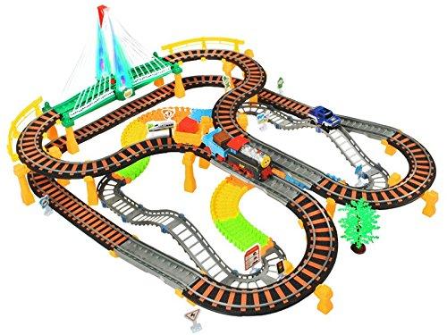 Eisenbahn Rennbahn Autorennbahn 192tlg. Kinderennbahn Auto Zug Waggons #2902