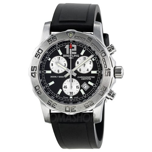Breitling Colt Chronograph II Chronograph Black Dial Stainless Steel Mens Watch A7338710-BB49