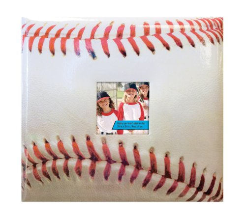 MCS MBI Sport and Hobby Postbound Album 12-Inch-by-12-Inch Page , 13.2 x12.5 Album , Baseball Theme (Football Scrapbook Album compare prices)