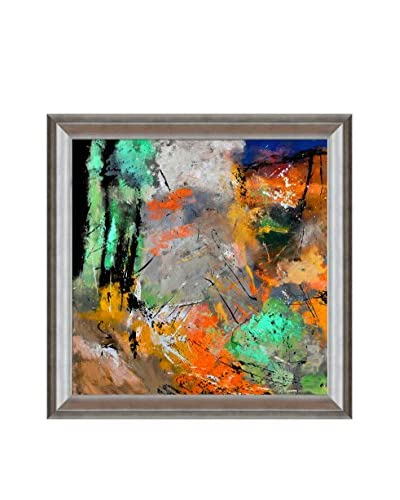 Pol Ledent Abstract 8841203 Framed Canvas Print, Multi, 29 x 29
