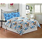 1673779cf2d93 Amazon  Bombay Dyeing Coral Vine Double Bedsheet DSN-07 - 100% Cotton - SKY  BLUE   749.00 (50% off)