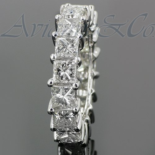 14K White Gold Womens Diamond Eternity Band 6.30