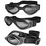 Pet Dog Sunglasses - Protective Eyewear Goggles Small Waterproof Protection (Black)
