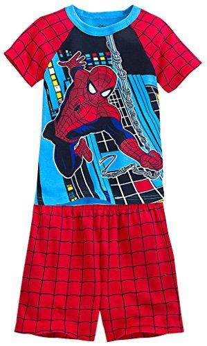 Disney Store Little Boys' Spider-Man PJ PALS Short Set, Size 4