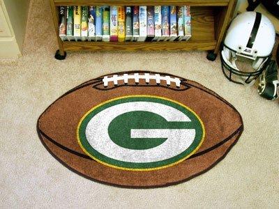 """Fan Mats NFL Green Bay Packers Football Rug 22""""x35"""""""