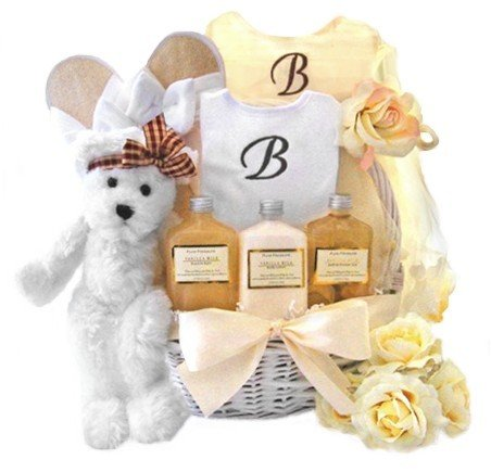 Golden Splendor Mommy and Baby Girl Gift Basket
