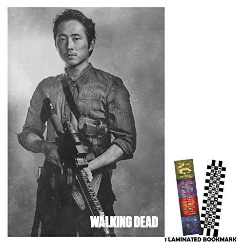 The Walking Dead (2010) - Glenn Rhee - Movie Poster Flyer 12 in x 18 in BORDERLESS + 1 Free Laminated Bookmark