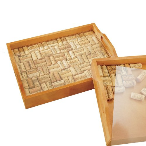 Wine Enthusiast Wine Cork Serving Tray Kit front-182718