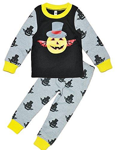 Little Hand Bambino Halloween Zucca fantasma a maniche lunga Pigiama Ragazzi 1-6 anni 83-116