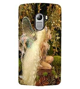 ColourCraft Lovely Angel Design Back Case Cover for LENOVO VIBE X3 LITE