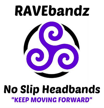 RAVEbandz Fashion Headbands (SPECTACULAR) - Non-Slip Silicone Lined Sports & Fitness Hair Bands for Women and Girls