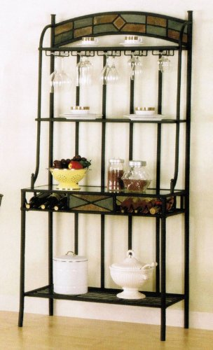 Kitchen Table With Wine Storage front-368015