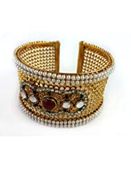 Aradhya Gold Plated Traditional Style Free Size Bangle Kada For Women And Girls