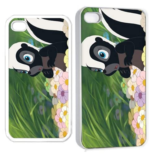 bamby flower skunk iPhone Hard Case 4s White
