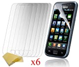 6 x Cooltechstuff Samsung Galaxy S GT-i9000 Clear Plastic Clear Screen Protector - Part of Cooltechstuff Store Accessories