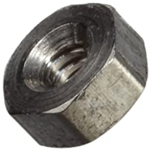 "303 Stainless Steel Hex Nut, Plain Finish, Right Hand Threads, Class 2B #000-120 Threads, 0.040"" Height, Made in US (Pack of 25)"
