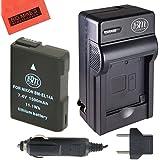 BM Premium ENEL14, EN-EL14, EN-EL14A Battery and Charger Kit for Nikon Coolpix P7000, P7100, P7700, P7800, D3100, D3200, D3300, D5100, D5200, D5300, D5500, DF Digital SLR Camera + More!!