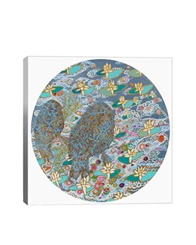 Lia Porto Gallery Pajaros Y Estanque Canvas Print