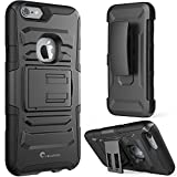 iPhone 6 Case, i-Blason **Dual Layer** [Kickstand] Apple iPhone 6 Case (4.7-inch) Prime Series Holster Cover with Kickstand and Locking Belt Swivel Clip for iPhone 6 (Black)
