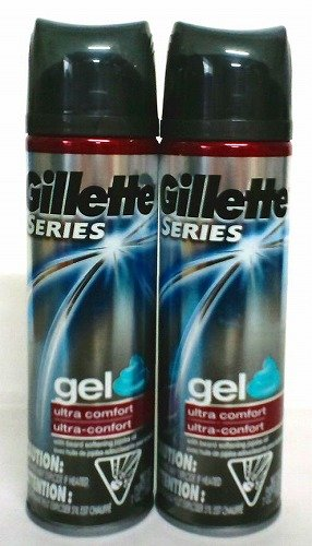 アメリカ製シェーブジェルGillette・ジレット シリーズ ジェル ウルトラコンフォート198gX2本
