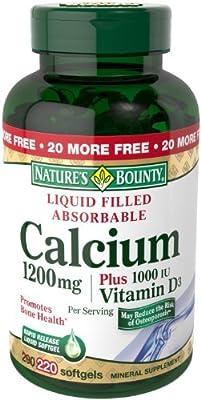 Nature's Bounty Calcium 1200mg Plus Vitamin D3, 600 Softgels