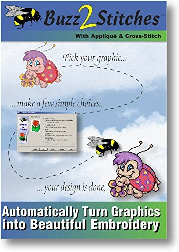 Buzz-2-Stitches Software - Automatically Turn Graphics Into Embroidery Designs (Stitch And Sew Software compare prices)