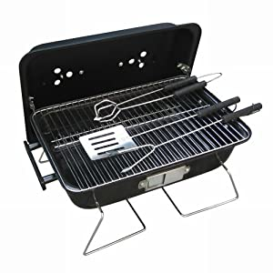 Ragalta RBQ-004 Portable Charcoal Grill, 16 x 11-Inch